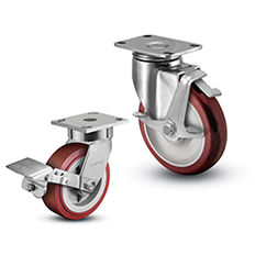 Colson Brand Casters - 4 series Top Plate and 2 Series Stainless Steel Casters - Industrial Supplies USA